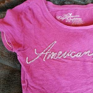 American Eagle Purple Beaded Tshirt